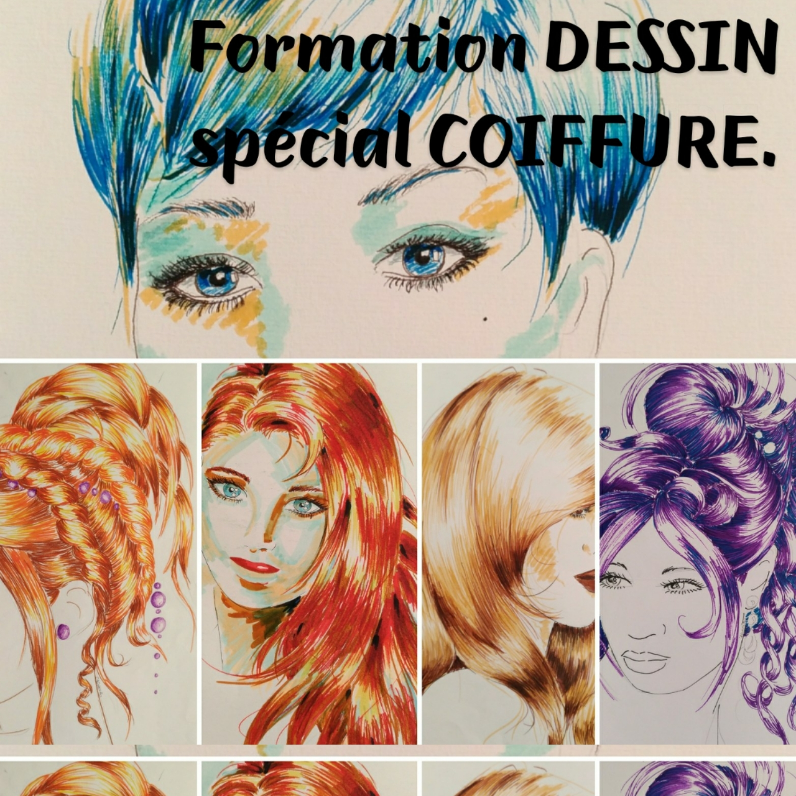 Cours Dessin Coiffure
